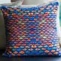 Tiles 100% Linen Cushion Cover