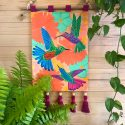 Electric Hummingbird Wall Hanging