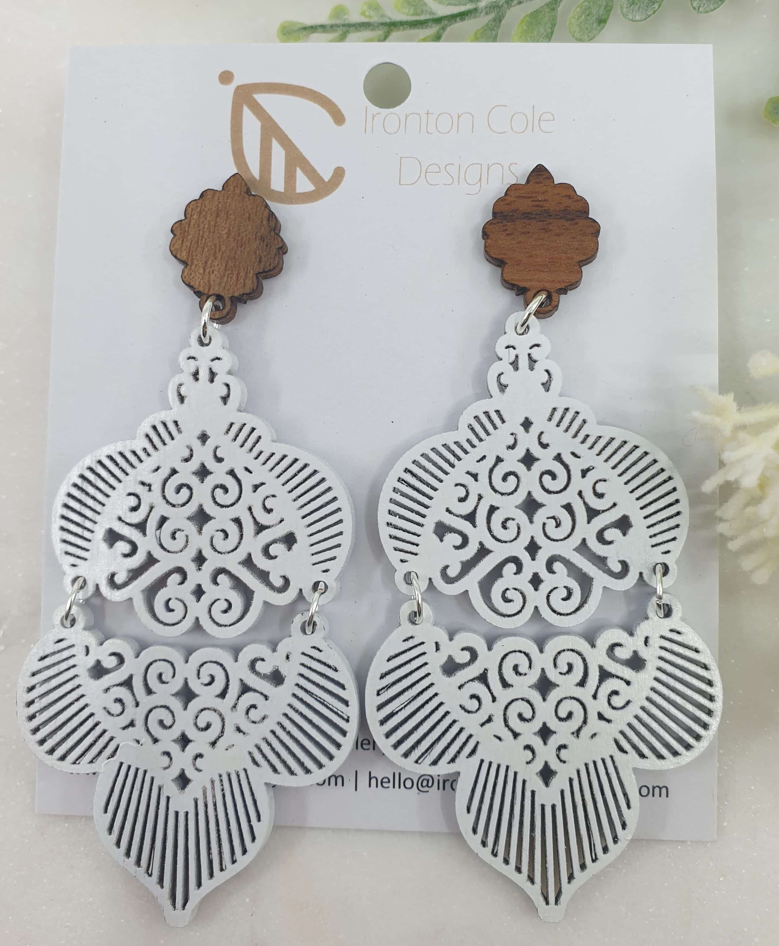Moroccan inspired patterned earrings