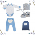 On Chic Baby Boy Gift Set – 0-3 Months – Blue