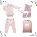 On Chic Baby Girl Gift Set – 0-3 Months – Pink