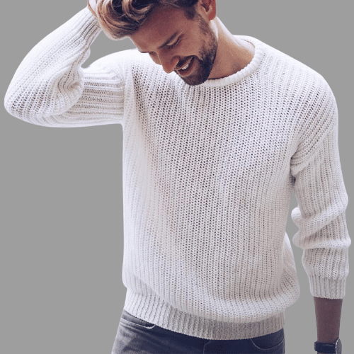 White Pullover Sweater