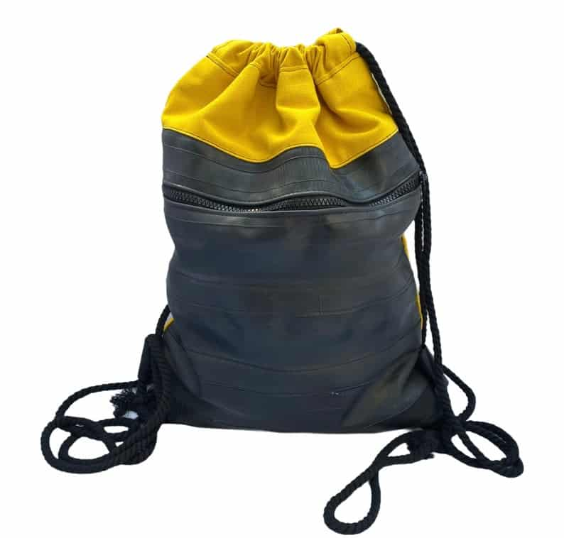 Drawstring backpack made from vegan leather
