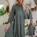 Faith Mini Dress – Khaki