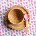 Bamboo Suction 3 piece First Dinner Set – Pink