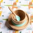 Bamboo Suction 3 Piece First Dinner Set – Mint