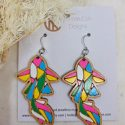 Colourful Koi earrings